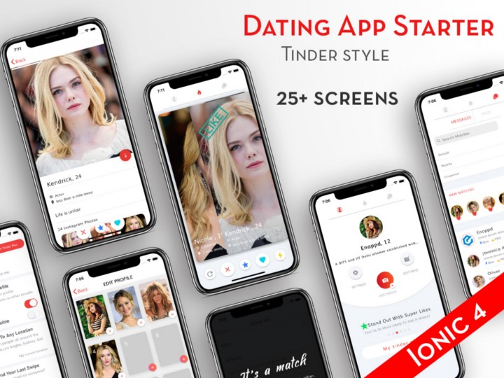 Ionic 4 Dating App Template