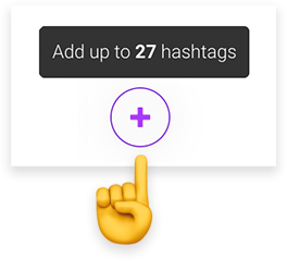 add up to 30 hashtags