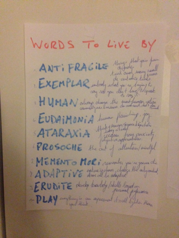 Words to live by | olivier goetgeluck