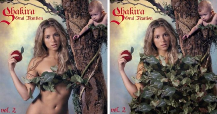 Shakira's oral fixation covers. Middle east