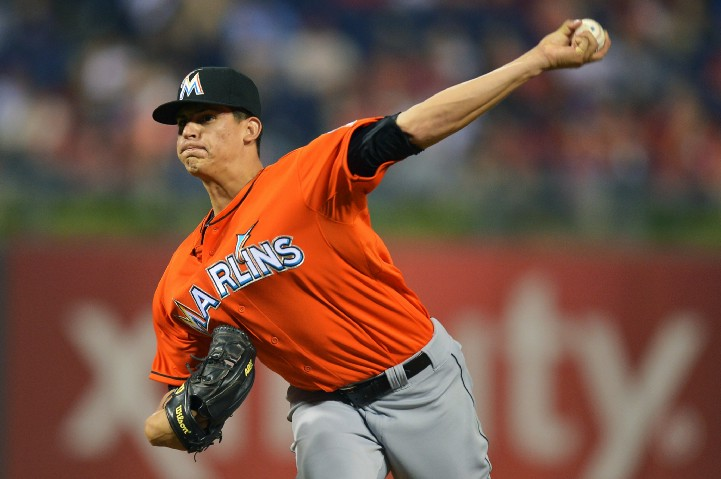 LHP Edgar Olmos made his Major League debut in 2013 with the Marlins.