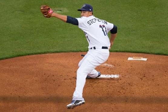Robert Stephenson struck out 11 over 4.2 innings for Pensacola. (Michael Spooneybarger/Pensacola Today)