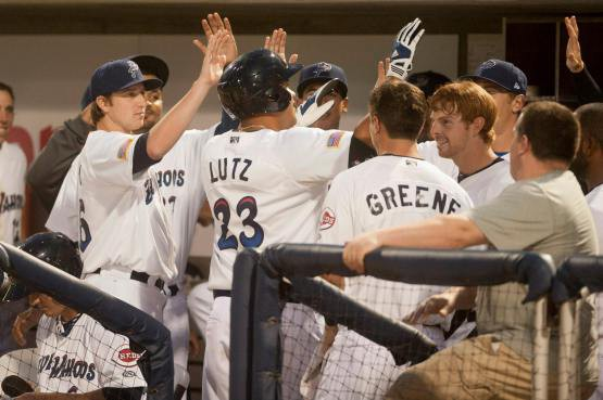 Lutz get it started: Blue Wahoos outfielder Donald Lutz leads the Southern League with a .719 slugging percentage.
