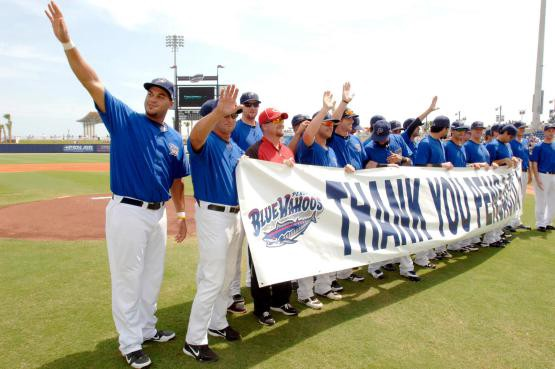 Lutz, who spent parts of three seasons in Pensacola, played 128 games with the Wahoos.