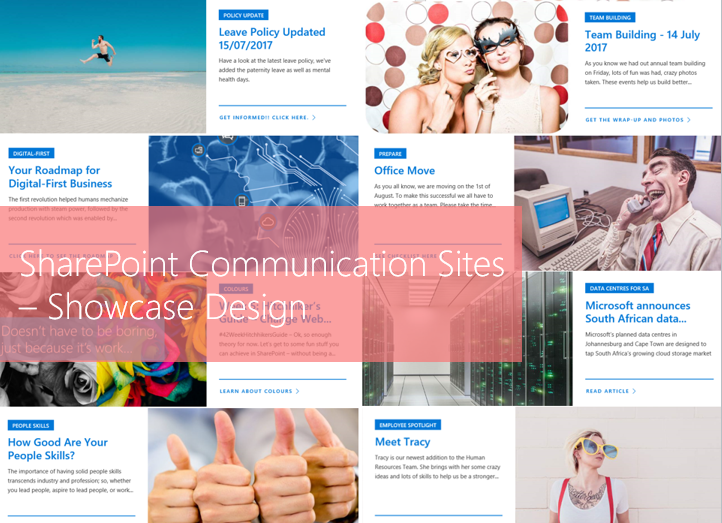 Part 2 building sharepoint communication sites using the showcase sharepoint communication sites pronofoot35fo Choice Image