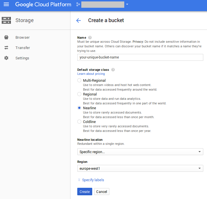gcp cloud storage