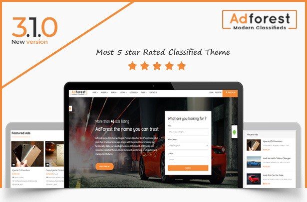 Most 5 Star Rated & Best Classified Ads wordpress Theme