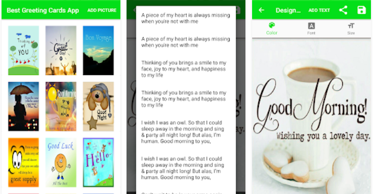 Android app of the day best greeting cards maker diy greeting card need to send a rush greeting card to a friend or holiday wishes to a relative halfway around the world a wealth of mobile apps can do the job for you m4hsunfo
