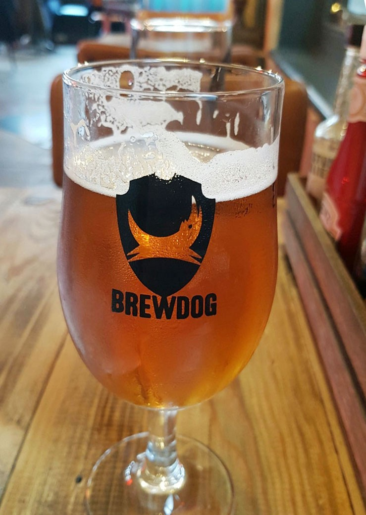 pint of craft beer from BrewDog Seven Dials