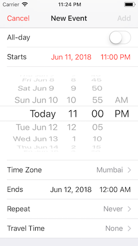 How To Implement A Inline Date Picker In Ios With Swift 5