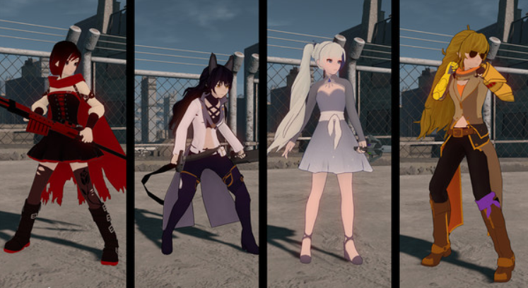 The new Team RWBY and Team JNPR costume packs featuring iconic timeskip and pajamas  outfits are pulled straight from the show 6967036dd