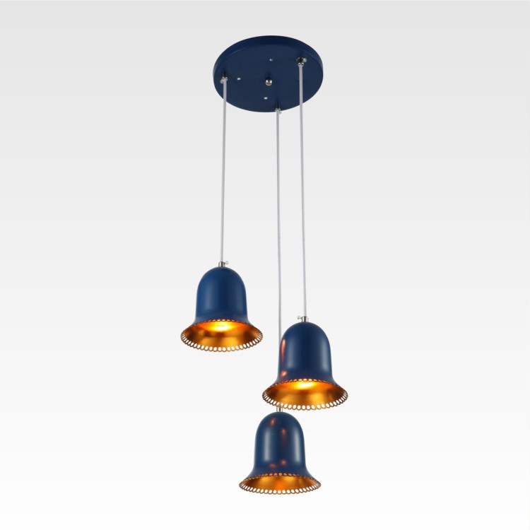 Review Loli 3-Light Pendant Ceiling Light Fixture with Round Canopy ...