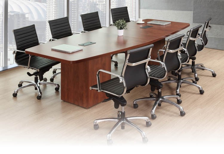 Buy Boat Shaped Conference Table With Cube Bases By Office Source - Conference table bases metal