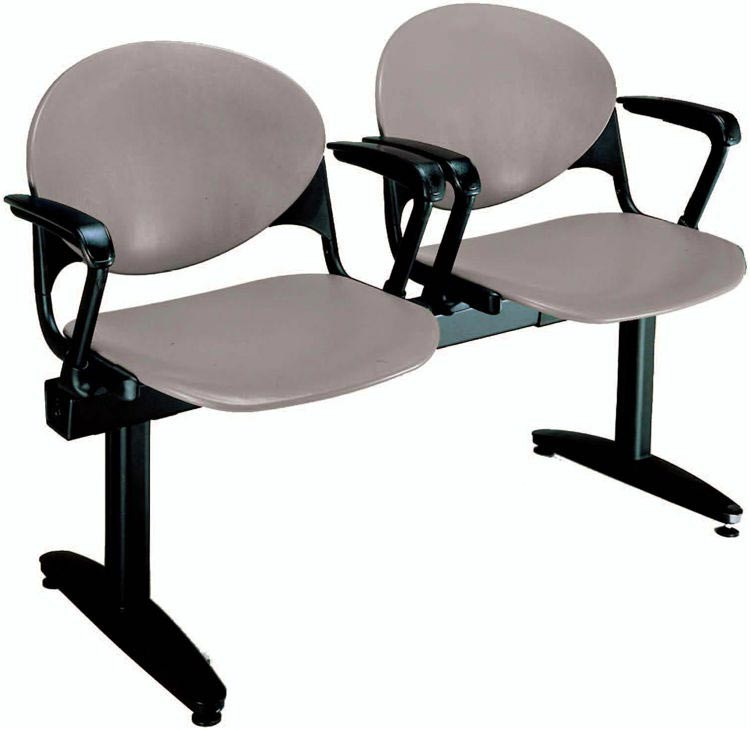 Beam 2 Seat Bench With Arms By KFI Seating Product Description: