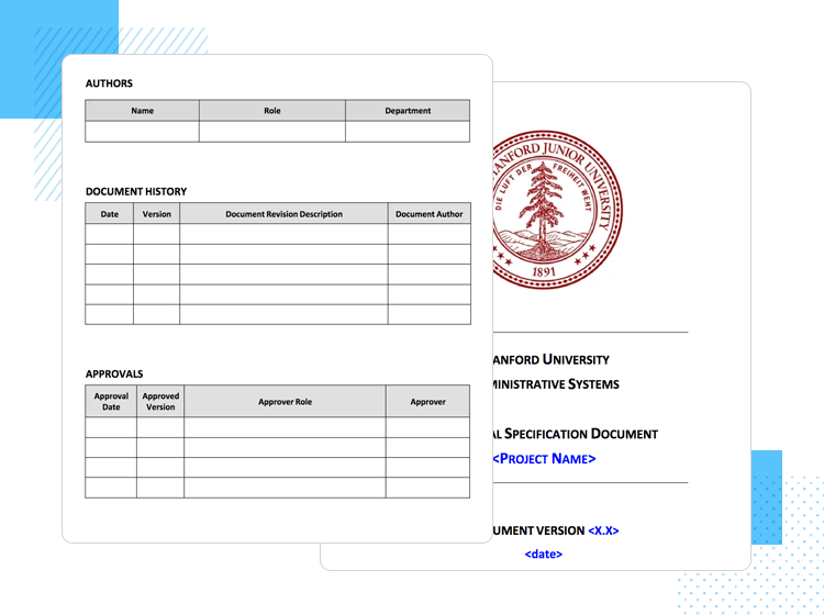 Functional specification document—Stanford University