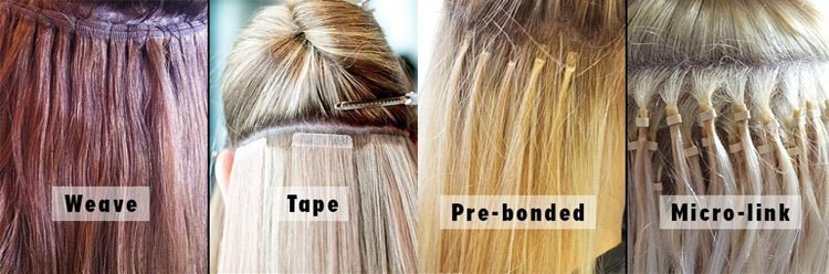 types of extensions for hair ranging from 44 dollars and more