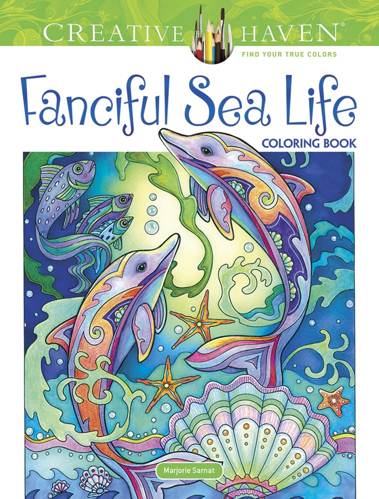 Artist Marjorie Sarnats Latest Coloring Book Available Now Fanciful Sea Life