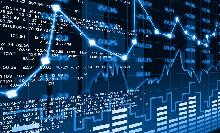Stock Market Electronic Chart Rate Wallpaper Image