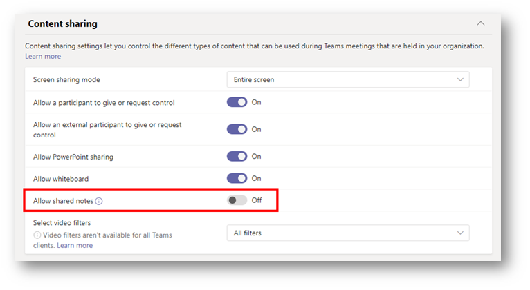 Why you should disable shared notes in Microsoft Teams meetings