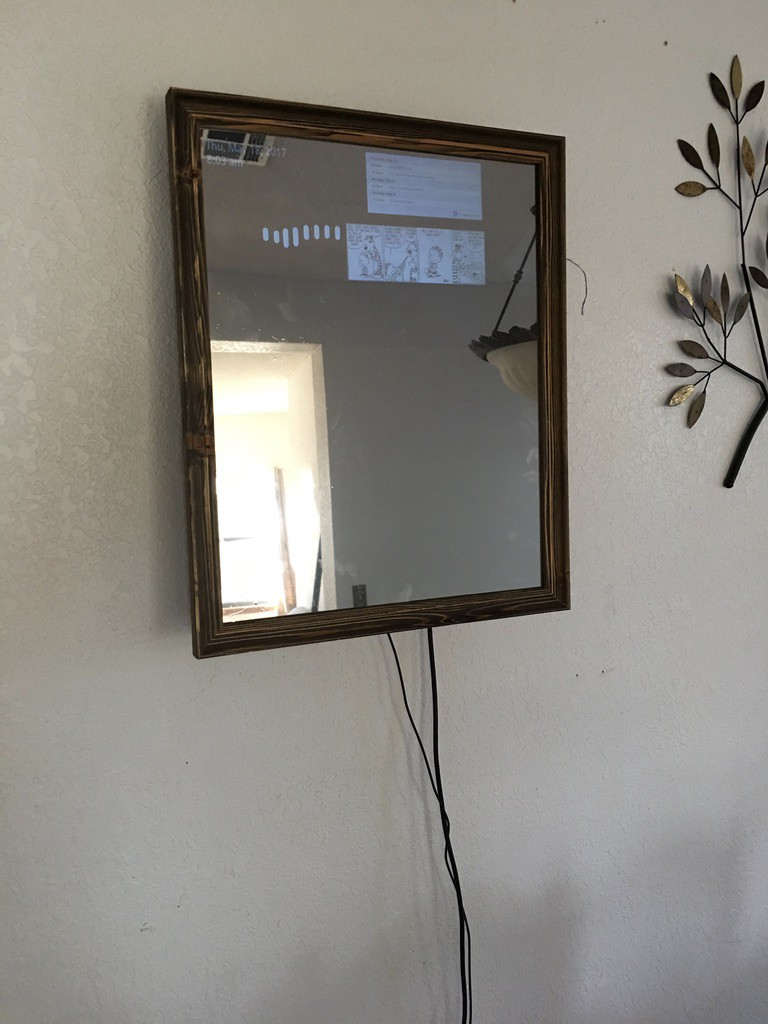 How to make a Smart Mirror using an old monitor, a Chromecast, a ...