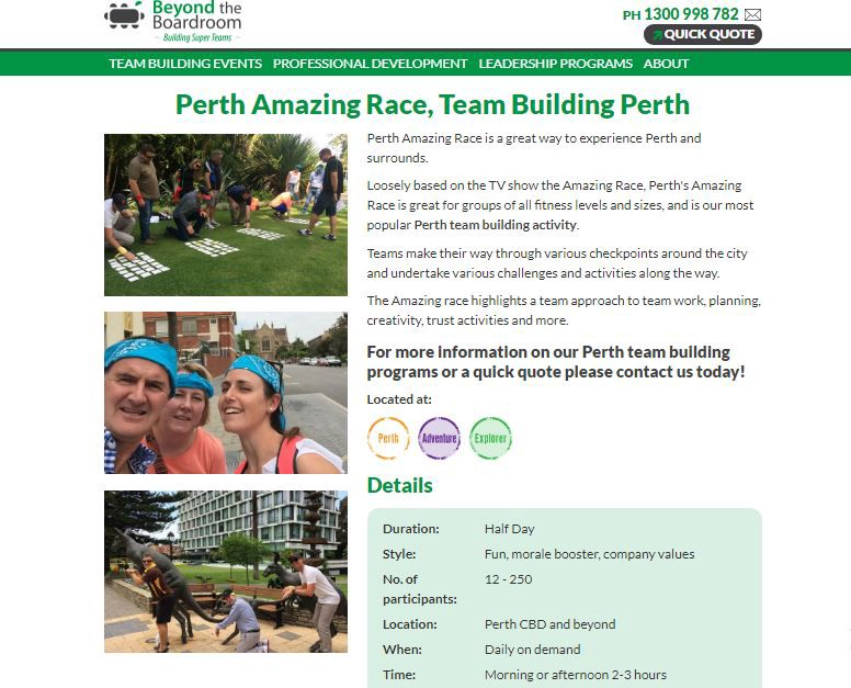 Amazing race perth