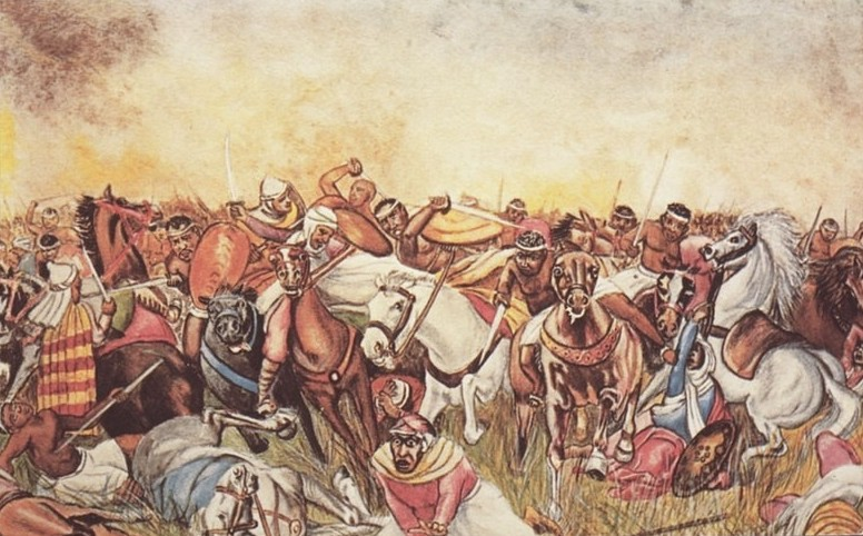 Wagadu people battling Berbers