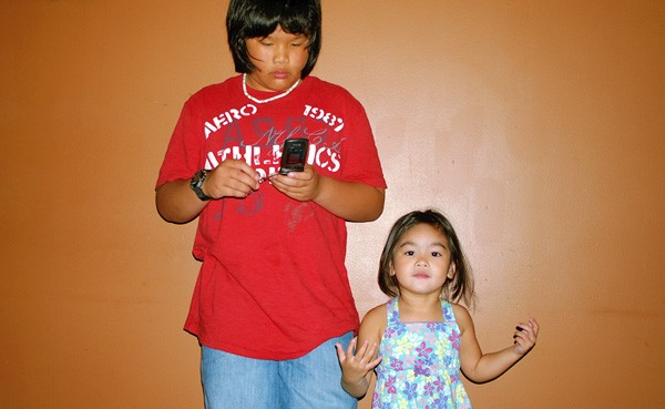 Our lil' cousin Kevin & the cutie niece Ava