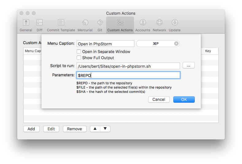 Quickly Opening A Sourcetree Repository In Phpstorm