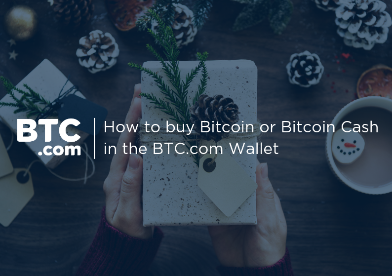 How to buy Bitcoin (BTC) or Bitcoin Cash (BCH) in the BTC.com Wallet