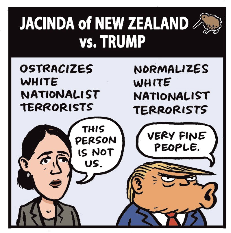Comparing New Zealand's Leader to Trump