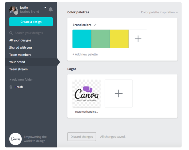 Canva - Add your logo to every graphic
