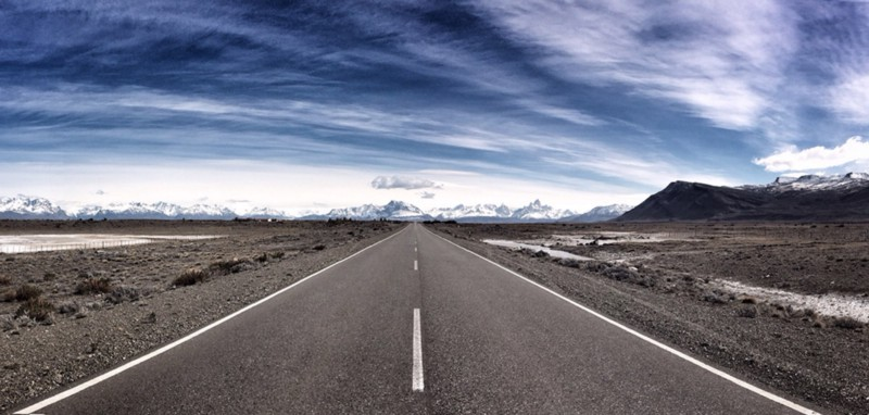 Iphone5s panoramic view on Patagonia