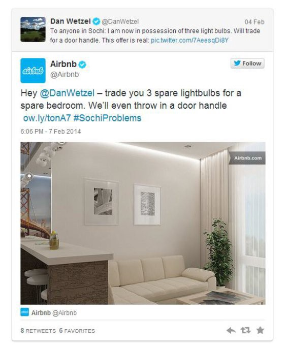 12 powerful ways social listening can grow your business - social media response from Airbnb