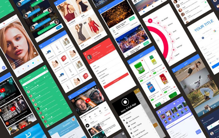 Ionic Full App with huge number of layouts and features