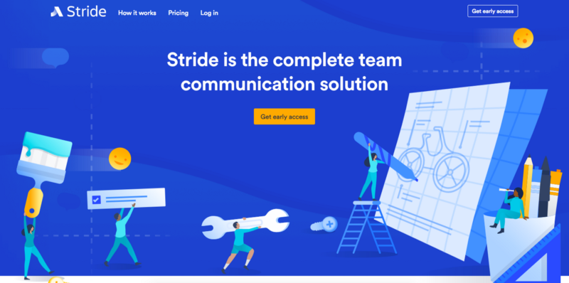 Stride homepage illustration