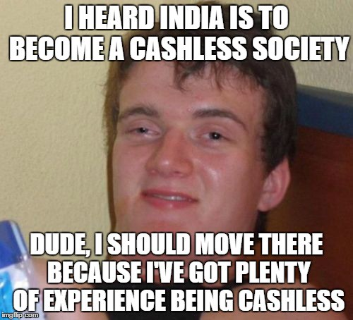 cashless IT joke