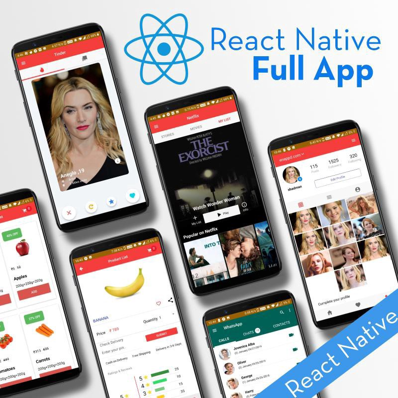 React Native Full App by Enappd