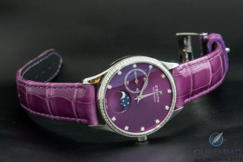 """Recognizable as a """"prettified"""" men's watch: the Zenith Elite Ultra Thin Lady Moonphase of 2015"""
