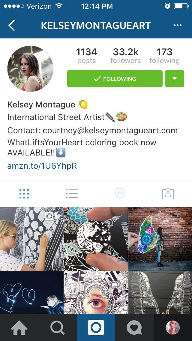 how to optimize your Instagram account - kelseymontagueart