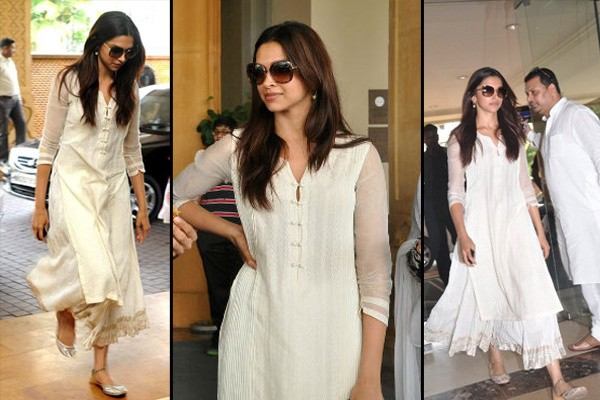 5 Different Looks in White Salwar kameez Of Deepika Padukone