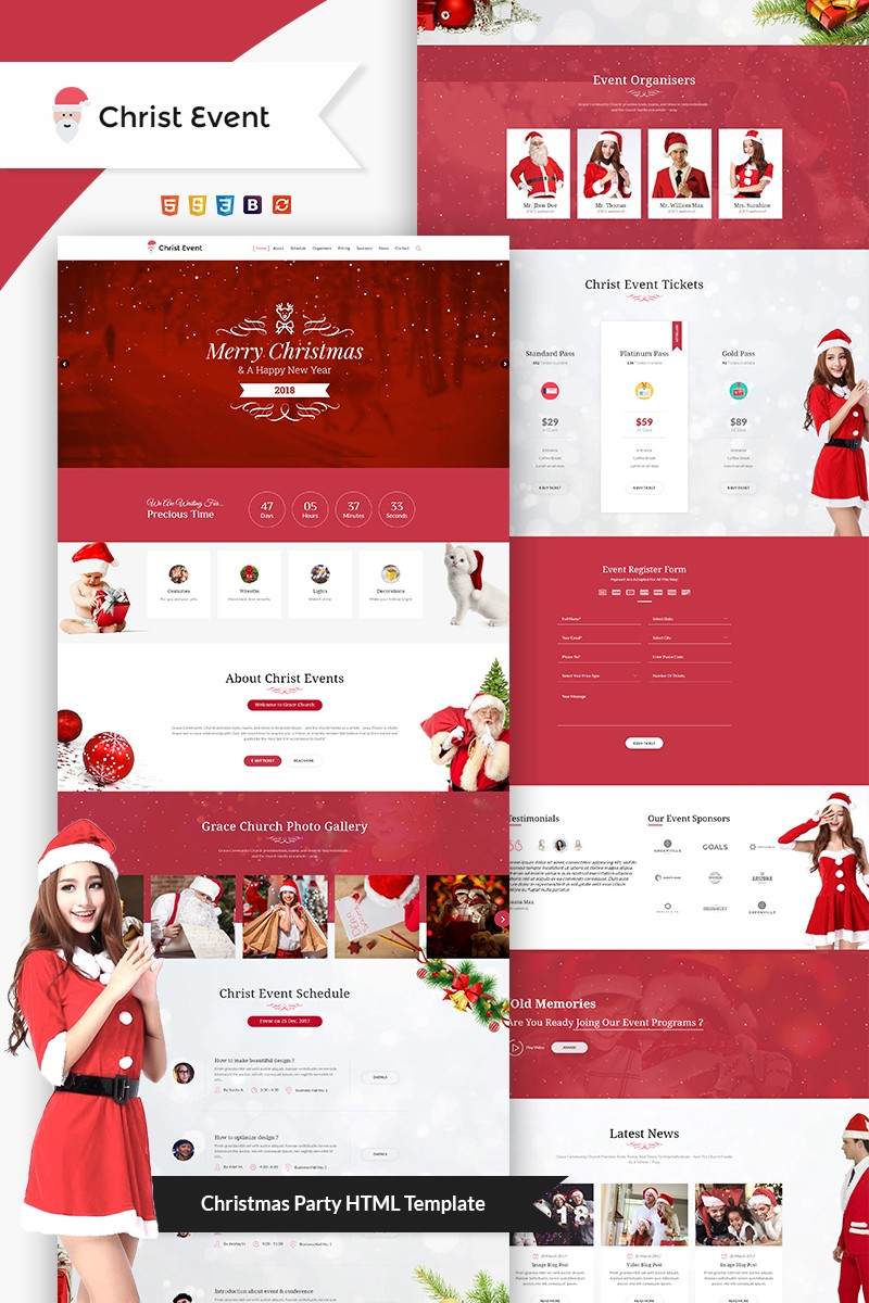 website design tips christmas landing page