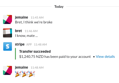 Stripe Slack integration