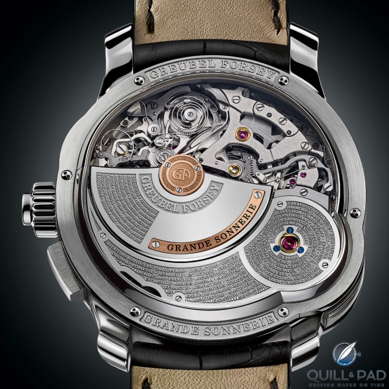 Back of the Greubel Forsey Grande Sonnerie