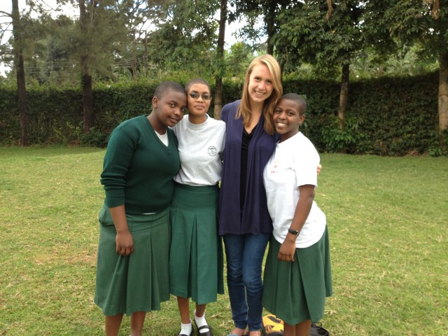 Zoe with the founders of the Machame Girls Leadership Club