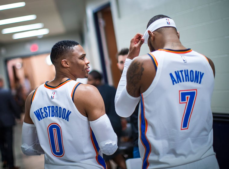 Russel Westbrook e Carmelo Anthony