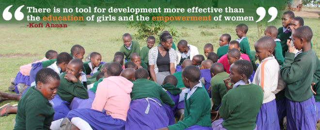 There is no tool for development more effective than the education of girls and the empowerment of women - Kofi Annan