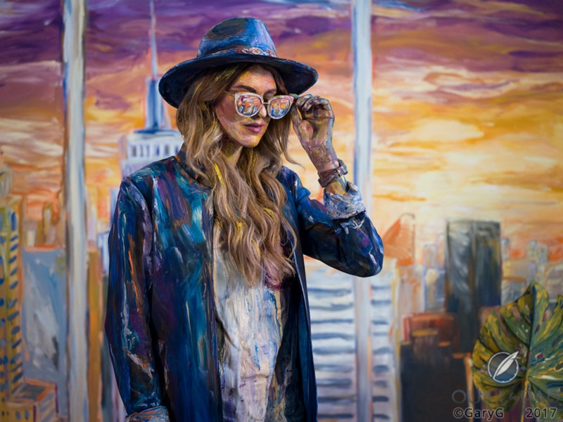 This is not a hat. Or is it? Alexa Meade's dimensional art, Baselworld 2017