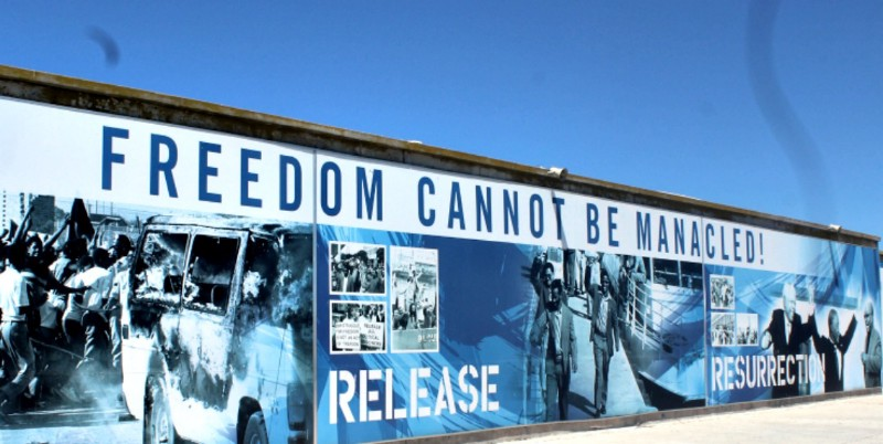 freedom cannot be mannacled South Africa robben island