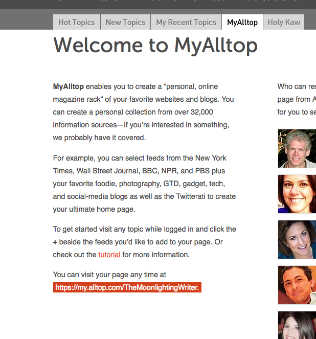 MyAlltop Logged In