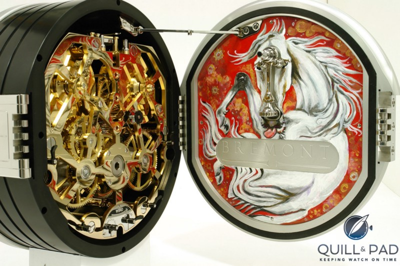 "The inside of ""Wild Horses,"" Ronnie Wood's first clock for Bremont"